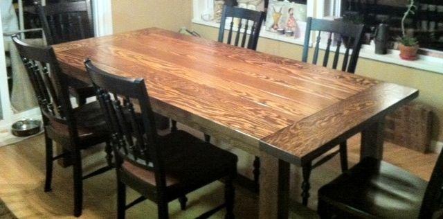 Jillian's fir table.