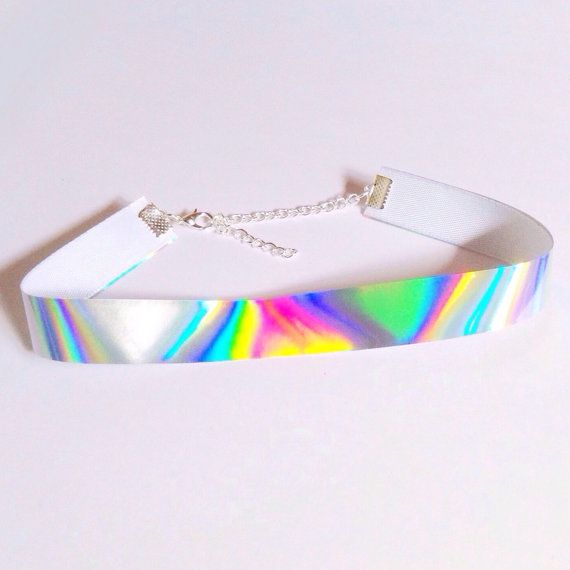 Holographic Choker by neonalien on Etsy
