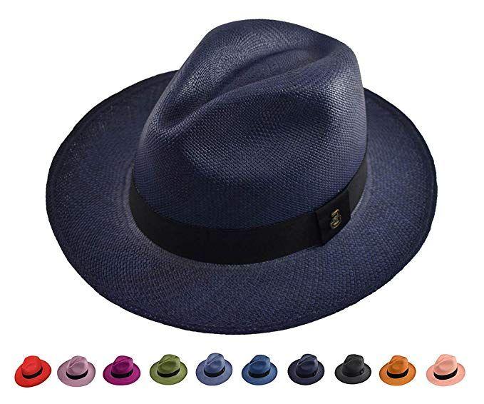 afde57827 Original Panama Hat - Classic Fedora - Many Colors - Toquilla Straw ...
