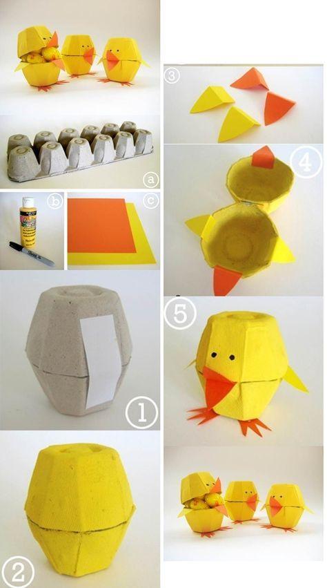 Voll gemütlich: Basteln mit Kindern! 8 einfache Bastelideen für Ostern! - DIY Bastelideen