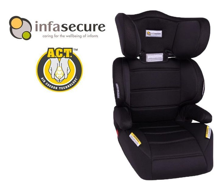 New Infa Secure Vario Create Booster Car Seat Kid Child Infant 4-8 years Raven