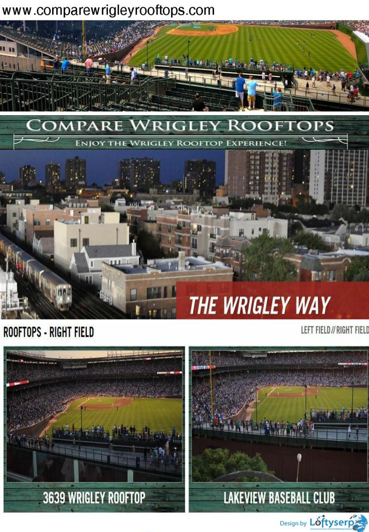 If you are looking for hassle free door to door transportation services to/from the game, look no further. Compare Wrigley Rooftops has partnered with Chicago's most trusted transportation service provider - www.comparewrigleyrooftops.com