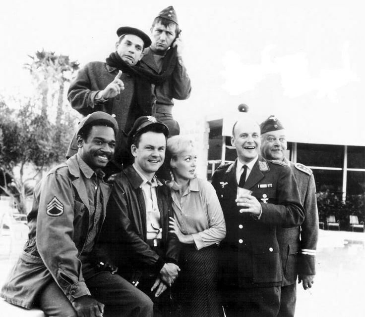 Robert Clary, Richard Dawson, Ivan Dixon, Bob Crane, Cynthia Lynn, Werner Klemperer, and John Banner