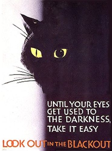 British blackout poster during World War ll.