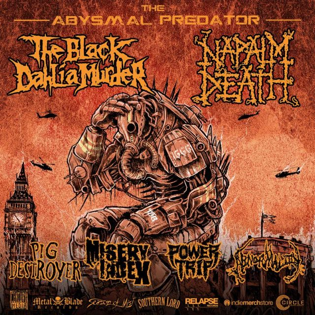 The Black Dahlia Murder - Napalm Death Tour 2016