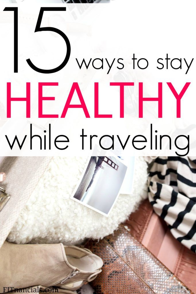 Find out how you can stay healthy while traveling. You can travel for a week or a year and not gain any weight at all, which is often the contrary. This is such a helpful list!