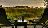 Footsteps Camp - Okavango. One of the truly spectacular must do activities, is to walk through the Okavango Delta wildlife and natural floral kingdom. The walks are leisurely and dependent on what you are comfortable managing. The idea is to explore and unwind in a natural untouched environment. Fresh spoors track the savannah and grasslands and it is these night events viewed in early morning freshness that are so captivating.
