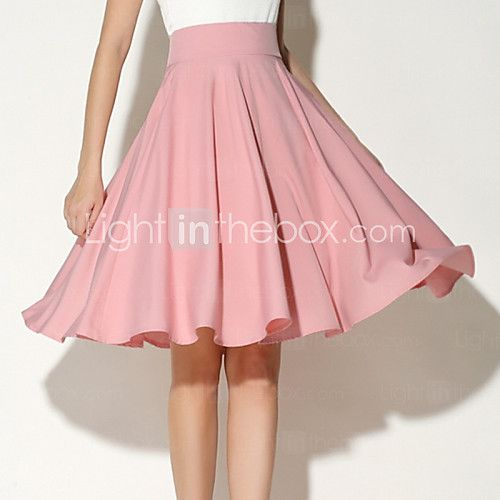 Fashion Summer Women's Solid Color Knee Length 360 Degree Big Swing Party OL Skirt - USD $12.99 ! HOT Product! A hot product at an incredible low price is now on sale! Come check it out along with other items like this. Get great discounts, earn Rewards and much more each time you shop with us!