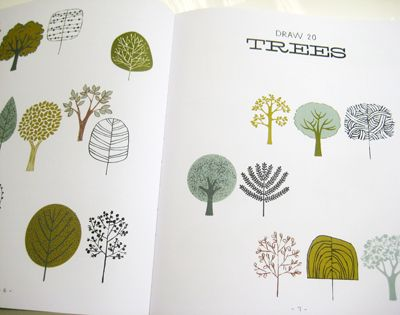 From 20 ways to draw a tree by Eloise Renouf via printpattern.blogspot.com.ar