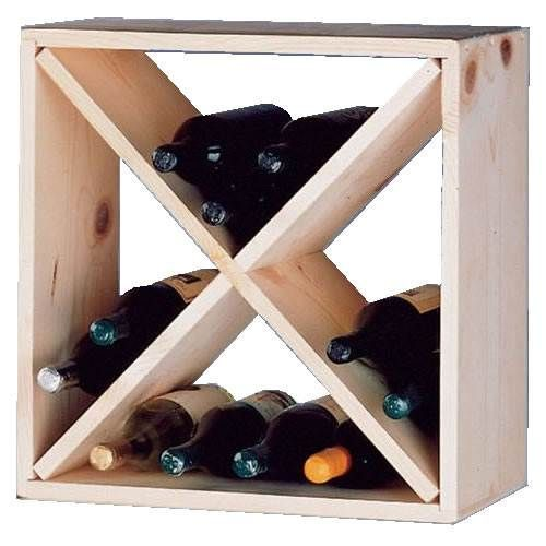 Wine Cellar Innovations 24 Bottle Cube - Country Pine