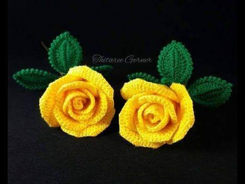 Flores tejidas a crochet sencillas - YouTube