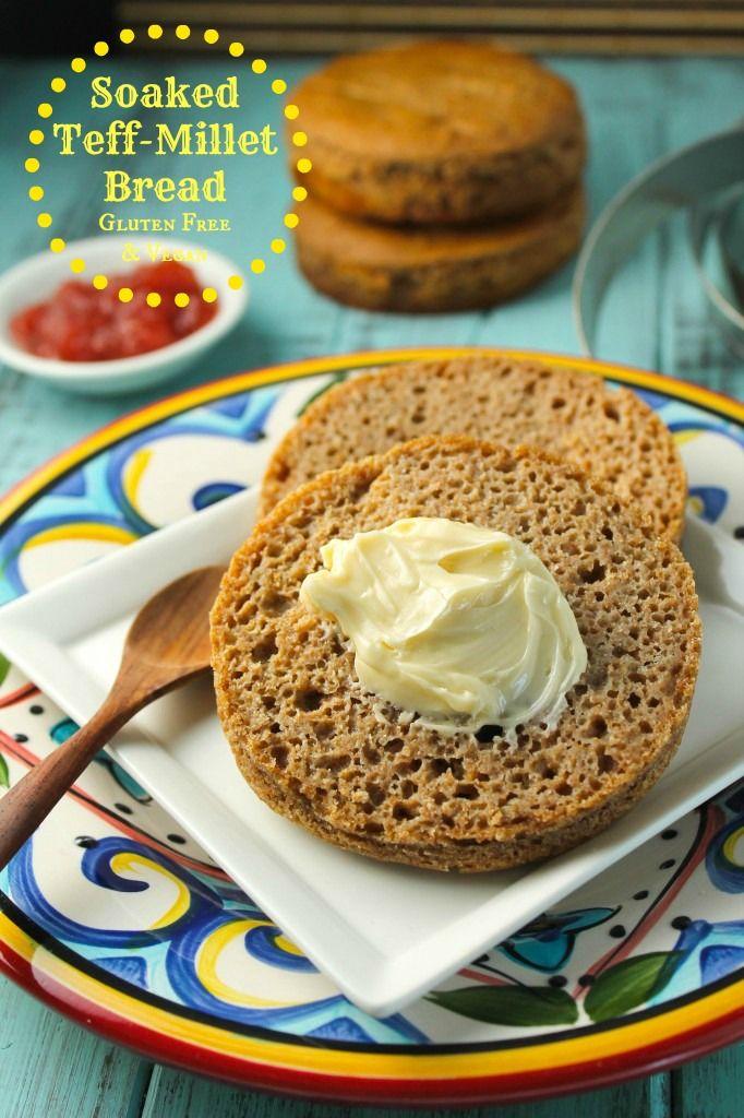 Moist Soaked Teff-Millet Bread - Gluten Free & VEgan