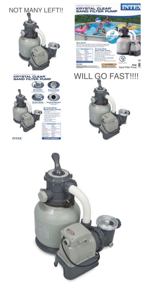 Pool Pumps 181485: Intex 2100 Gph Krystal Clear Sand Filter Swimming Pool Pump (Open Box) -> BUY IT NOW ONLY: $139.99 on eBay!