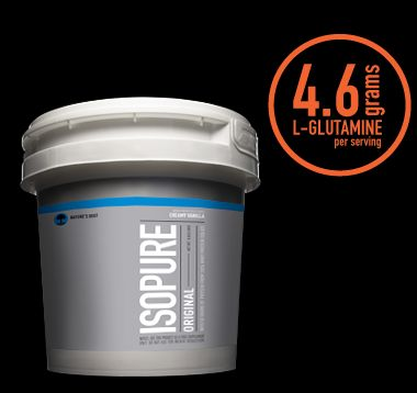 50 grams of 100% pure whey protein isolate and not a carb in sight. And, it still comes with glutamine, vitamins, minerals and nutrients to keep your muscles tough, lean and ready to rock it.  #isopure #protein