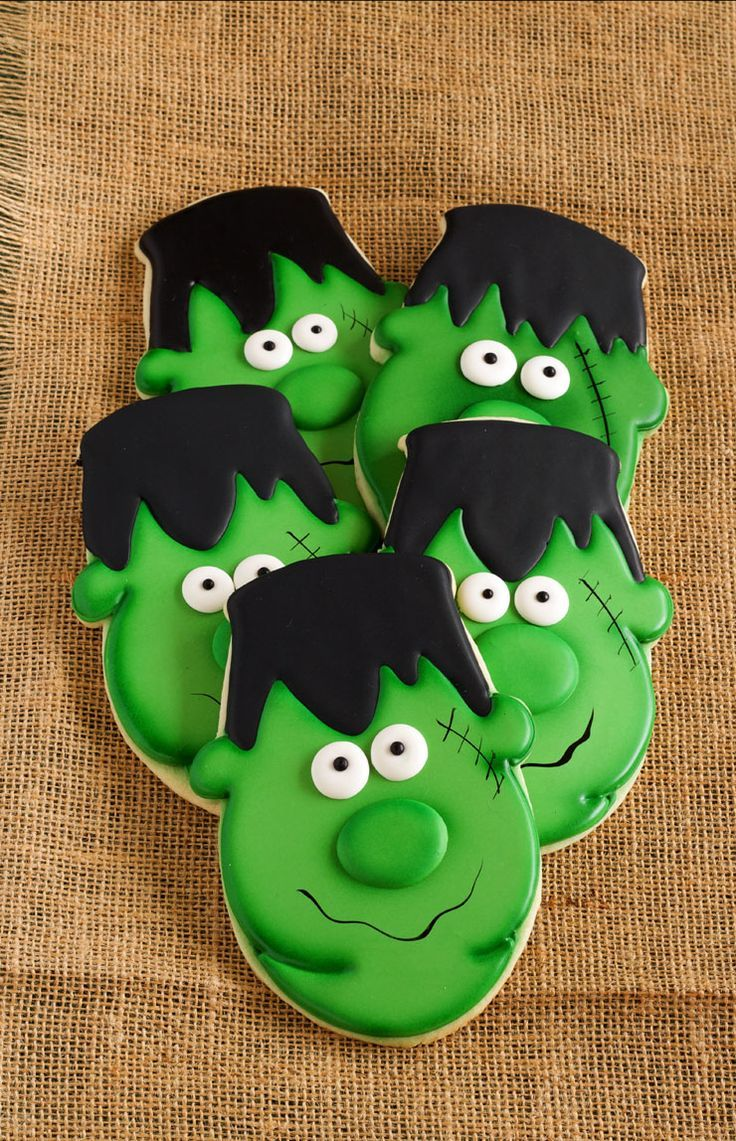 easy frankenstein cookies halloween cookies decoratedhalloween sugar