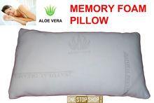 LUXURIOUS & TOP QUALITY PAIR OF ALOE VERA MEMORY FOAM PILLOWS - 2 PILLOWS Price: £21.99 TOPQUALITYALOE VERA MEMORY FOAM PILLOWS Traditional ShapeAloe VeraMemory Foam Pillow