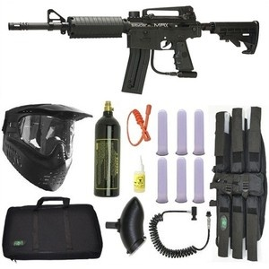 Spyder MRX Magazine Fed Paintball Marker Gun Sniper Package