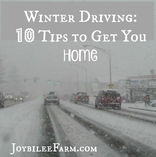 Even with snow tires and chains the driving conditions can be treacherous. Risky weather can blow in when you least expect it, making getting home dangerous.  These tips will help you get home safely.