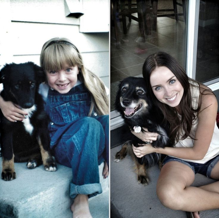 These photos were taken 14 years apart, representing over a decade of incredible friendship.