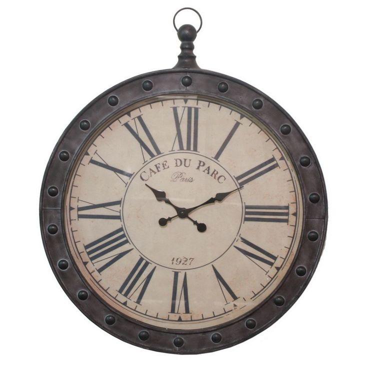 Rustic Brown Wall Clock