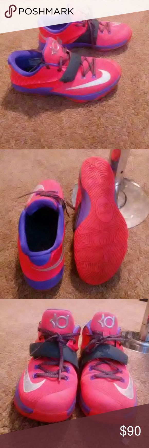 Kevin durant limited edition shoes Bright colors*   worn 3 times. Very comfortable. And low around the ankles... So no ankle support but perfect condition Kevin Durant Shoes Athletic Shoes