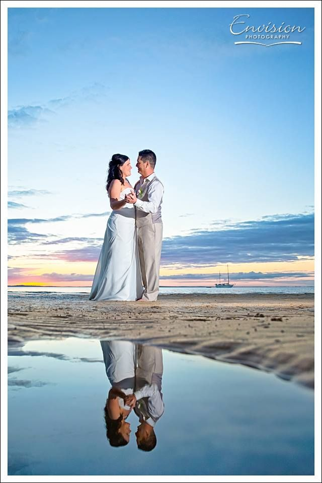 Holly and Richard reflect on their big day. Pic by Envision Photography #kingfisherbay #fraserisland #destinationwedding #fraserislandwedding #fraserwedding http://www.fraserislandweddings.com.au/ #AccorAustralia #Merc
