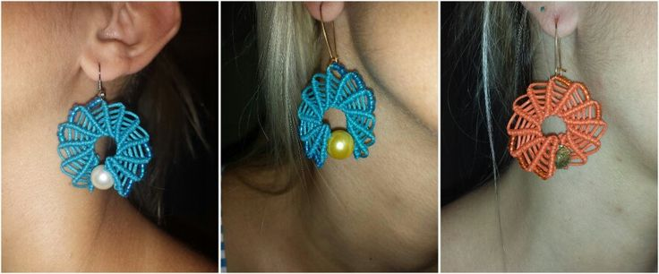 Iliada's sweet whispers- macrame earrings