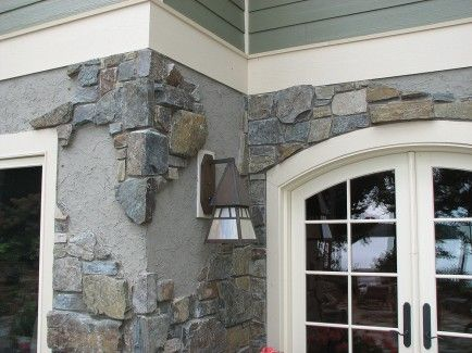 Home exteriors with stone and stucco stone and stucco for Stucco and stone exterior