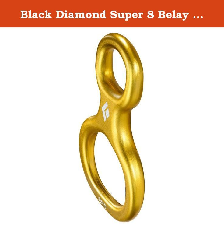 Black Diamond Super 8 Belay Device - Yellow. Fast and easy loading, this classic belay/rappel device uses a unique design that eliminates excess material by thinning out the non-rope bearing areas. Modern 8 design for smooth handling. Ideal for the retro climber or Search and Rescue professional. Works well with double 8.1 mm ropes up to 11 mm single lines.