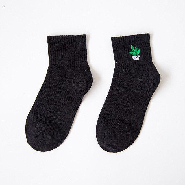 35-40 Unisex Cotton Harajuku Socks for Women Men Ulzzang Calcetines Black White Japanese Socks