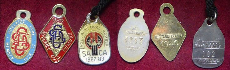 3 Different South Australian Cricket Association Members Badge 3   eBay