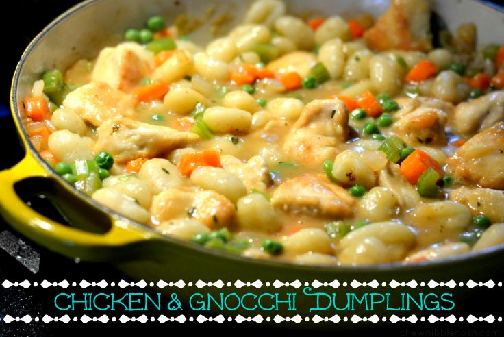 Chicken & Gnocchi Dumplings - Chew Nibble Nosh