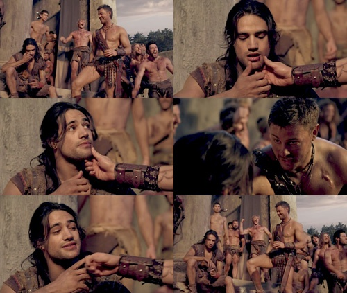D Spartacus Agron Nasir Fury Fire And Passion Pinterest Spartacus Spartacus Series
