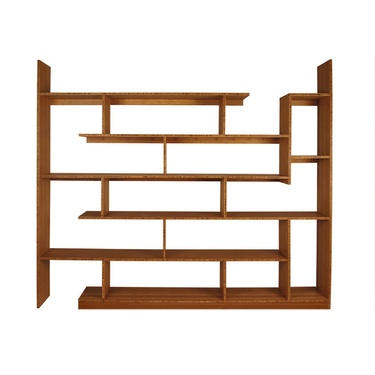 What's not to love about this solid bamboo shelving unit? It's asymetrical! It vaguely looks like a Tetris game! It's hand-finished with an organic oil!    Read more: http://www.dwell.com/products/bamboo-shelving-unit.html##ixzz22Dne7J3L: Bookshelves, Living Rooms, Decoration, Bamboo Stagger, Braves Spaces, House, Bookca, Spaces Design, Shelves United