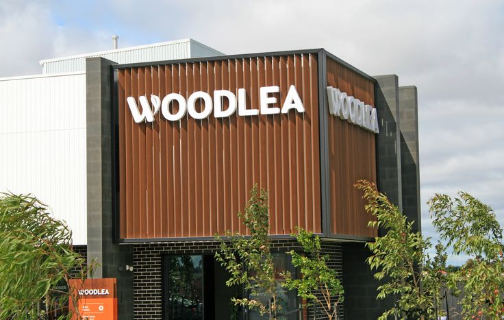 Woodlea Estate Sale Centre. Using Innoscreen 150x50 batten Spotted Gum at 4.2m high without any internal fixing