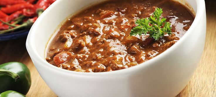 zone chili- i really like this recipe full of veggies.  I usually add in zucchini for added veg.