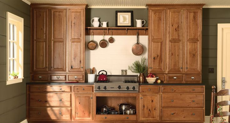 Rustic Cherry Cabinets.