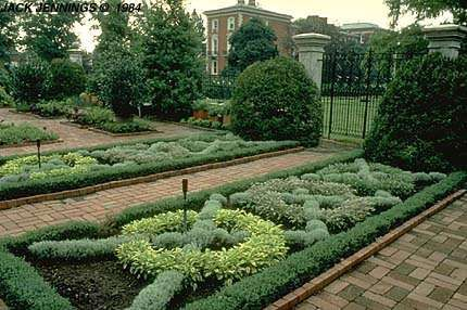 Knot Gardens-EXCERPT: 'Knot gardens were popularised in English gardens in the mid-15th century, when the stability of the nation was reflected in the increasing confidence of domestic architecture. People had the time, money and security to make their gardens a haven for relaxation. Knot gardens, mazes and labyrinths were all common, and provided intellectual puzzles to amuse the viewer.'