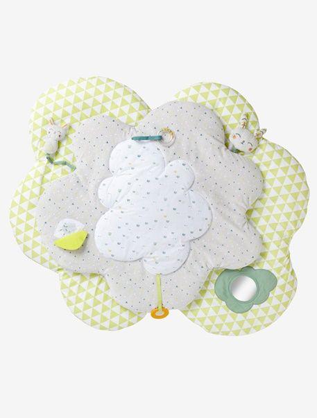 Der perfekte erste Spielplatz für Ihren Liebling! Die samtig weiche Activity-Decke bezaubert mit ihrer schönen Blütenform und durchdachten Details. Das kleine Tierchen am Band ist perfekt zum Schmusen und Spielen und überrascht mit seinem Soundeffekt. Der hübsch bedruckte Bezug der Baby-Spieldecke kann in der Maschine gewaschen werden. Produktdetails:Activity-Decke: Samt, 80 % Baumwolle, 20 % Polyester und Perkal, reine Baumwolle. Wattierung, 100 % Polyester. Bedruckt und mit…