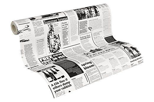 """A.S. Création Carta da parati """"giornale"""" , Nero/Bianco"""