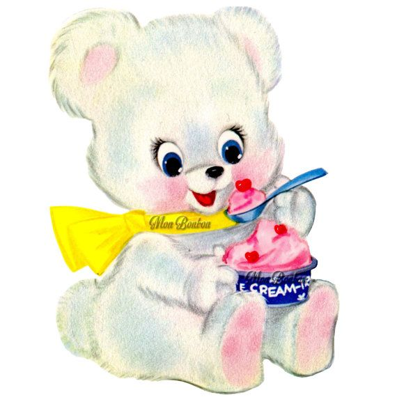 cute retro ice cram bear clip art illustration png and cute bear clip art with crown cute bear clip art with ladybugs