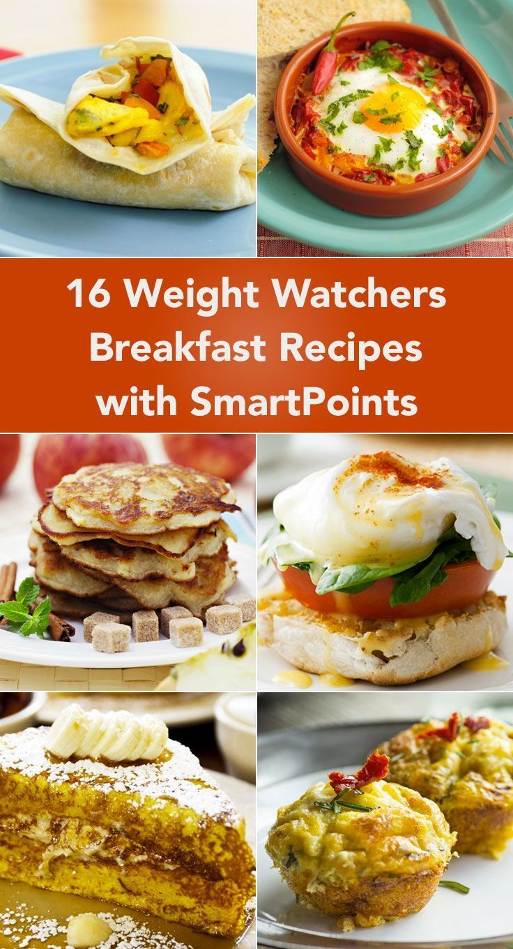 16 Weight Watchers Breakfast Recipes with SmartPoints including Breakfast Burritos, Italian Baked Eggs, Pancakes, Eggs Benedict, Muffins, French Toast, Scones, Oatmeal, Omelets, and more!