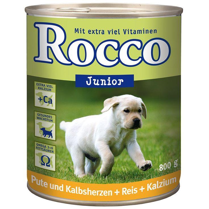 Animalerie  Rocco Junior 6 x 800 g pour chien  volaille gibier riz calcium