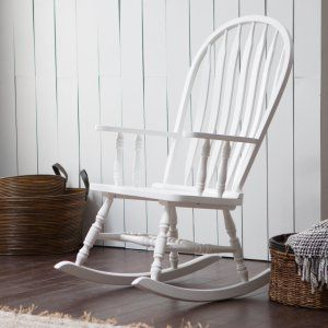 Belham Living Upholstered Mission Wood Nursery Rocker - Vanilla - Putting baby down for a nap or for bedtime just got more comfortable with this Belham Living Upholstered Mission Wood Nursery Rocker -Vanilla . This...