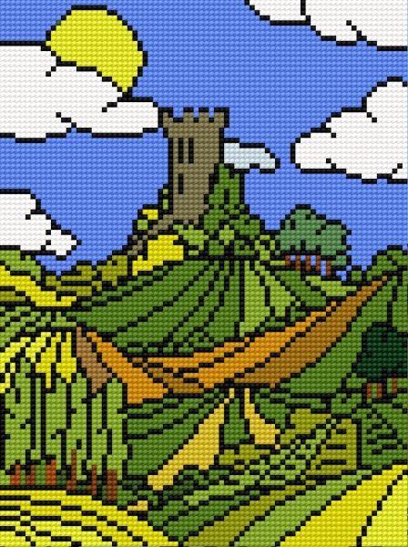 castle free cross stitch chart