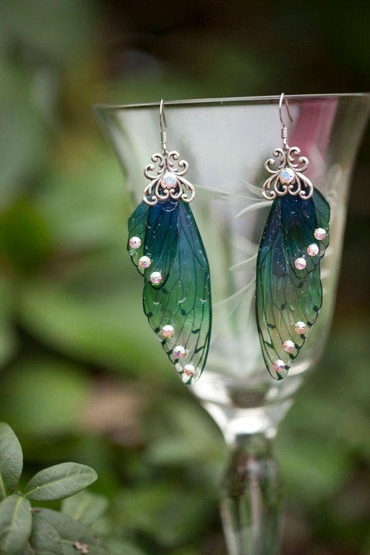 Ballybog Fairy Wing zilveren oorbellen door fairystitchfactory