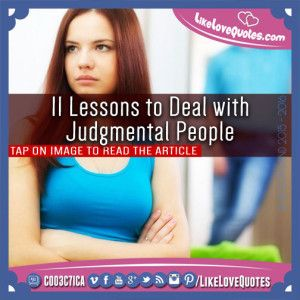 11 Lessons to Deal with Judgmental People