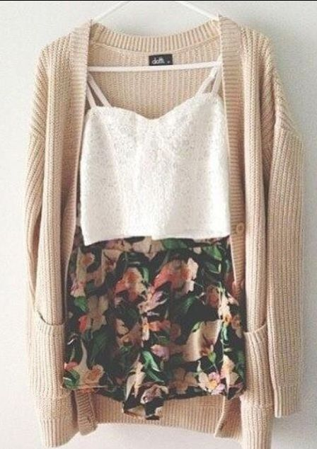 With some Doc Martens or combat boots would make this outfit girly and edgy all in one.