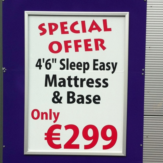 Special offer matress at Jacksons Beds on link rd