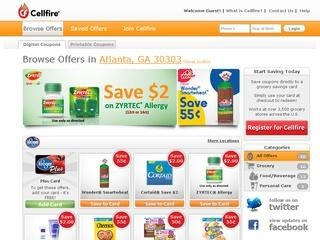 Cellfire sends you txts with coupon deals (digital coupons)